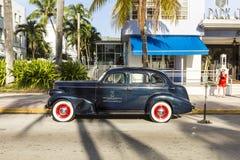 Vintage Car in Miami Beach Stock Photos