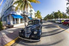 Vintage Car in Miami Beach Stock Image