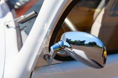 Vintage car mirror Stock Photo
