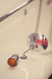 Vintage car mirror and turn signal Royalty Free Stock Photo