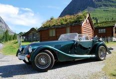 Vintage car in mountain village Stock Photos