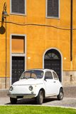 Vintage car in old town of Cagliari Royalty Free Stock Images
