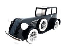Vintage car over white background Royalty Free Stock Photos