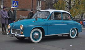 Classic Polish car during a parade Stock Photos