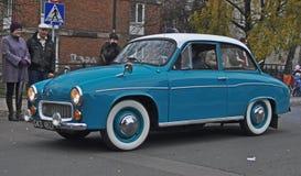 Classic Polish car during a parade Stock Photos