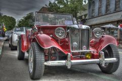 Vintage Car in parade. Vintage car show parade done in HDR. Taken May 2, 2013 Stock Images