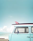 Vintage car parked on the tropical beach Royalty Free Stock Image
