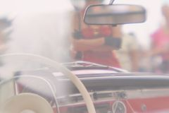 Vintage car passenger stock photography