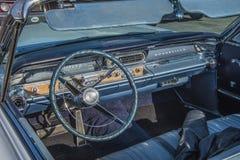 Vintage am car, pontiac-bonneville, dashboard Royalty Free Stock Images