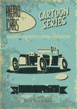 Vintage car poster Stock Images