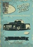 Vintage car poster Stock Photos