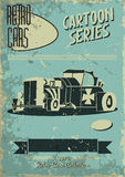 Vintage car poster Royalty Free Stock Images