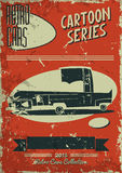 Vintage car poster Stock Photography