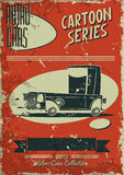 Vintage car poster Royalty Free Stock Photography