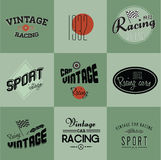 Vintage car racing badges Royalty Free Stock Photos