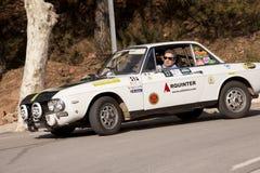 Vintage car rally. MURA, SPAIN - FEBRUARY 25:VIII rally trophy autosi la Llana, Mura Barcelona, on February 25, 2012 in Mura, Spain Stock Images