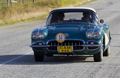 Vintage car rally, Corvette stock photos