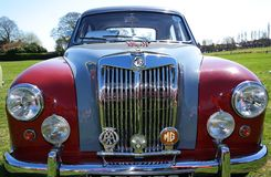 Vintage car rally 18 April 2015. Annual MG Rover vintage car rally after the Company went out of business in April 2005 Royalty Free Stock Photo