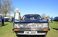 Vintage car rally 18 April 2015. Annual vintage MG Rover car rally after the Company went out of business in April 2005 held at Longbridge England Stock Photography