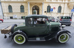 Vintage car rally Royalty Free Stock Images