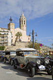 Vintage Car Rally of Sitges Royalty Free Stock Image