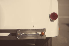 Vintage car rear bumper Stock Images