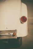 Vintage car rear bumper. Close up shot of an vintage car rear bumper Stock Images