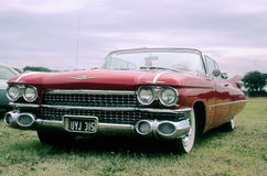 Vintage car (red Cadillac convertible) Royalty Free Stock Photo