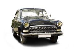 Vintage car. Retro style automobile with clipping path Stock Image