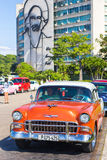 Vintage car in the Revolution Square in Havana Stock Photos
