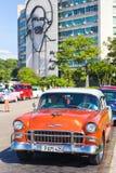 Vintage car in the Revolution Square in Havana Stock Photos