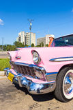 Vintage car in the Revolution Square in Havana Royalty Free Stock Photo