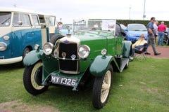 Vintage car 1929 Riley 9, 2 seater tourer. Vintage car 1929 Riley 9 4 cyl 1087 cc 2 seater tourer, on display on Morecambe promenade during Morecambe`s Vintage stock photos