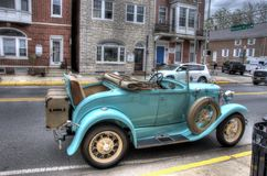Vintage Car. With rumble seat done in HDR Stock Photos