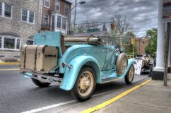 Vintage Car Rumble Seat. Vintage car with rumble seat and suitcase. Taken May 2, 2013 Stock Images