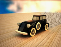 Vintage car running Royalty Free Stock Photography