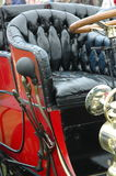 Vintage car seat close up Stock Photos