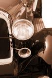 Vintage car - sepia royalty free stock image