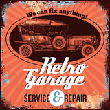 Vintage Car Service Design Royalty Free Stock Photography