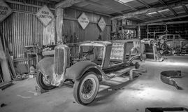 Vintage Car Shop Royalty Free Stock Image