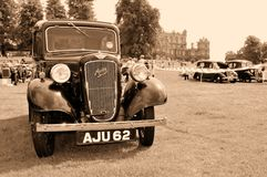 Vintage car show. NOTTINGHAM, UK - JUNE 1, 2014: Rare Austin vintage car for displayed at the retro car show in Nottingham, England Stock Photography