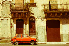 Vintage car in Sicily, Italy Royalty Free Stock Photos