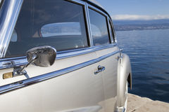 Vintage car side view details Stock Photography