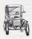 Vintage car sketch Royalty Free Stock Images