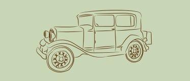 Vintage car with sketch or line art design. hand drawn Vector illustration. Vintage car with hand drawn sketch or line art design. Vector illustration vector illustration