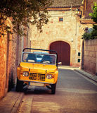 Vintage car in spain street Stock Photography