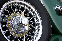 Vintage Car Spare Wheel Royalty Free Stock Photos