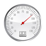 Vintage car speedometer Stock Image
