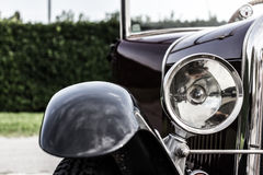 Vintage car. The splendor of the beautiful chrome of vintage cars Stock Images
