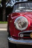 Vintage car. The splendor of the beautiful chrome of vintage cars Stock Photo